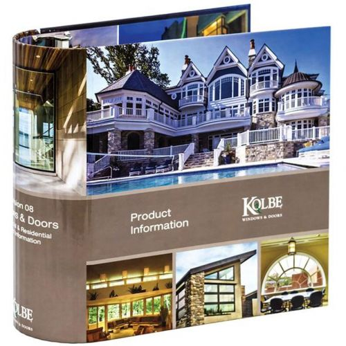 Kolbe Windows + Doors Binder | Custom Printed Turned Edge Binder with Euro Hinge Spine