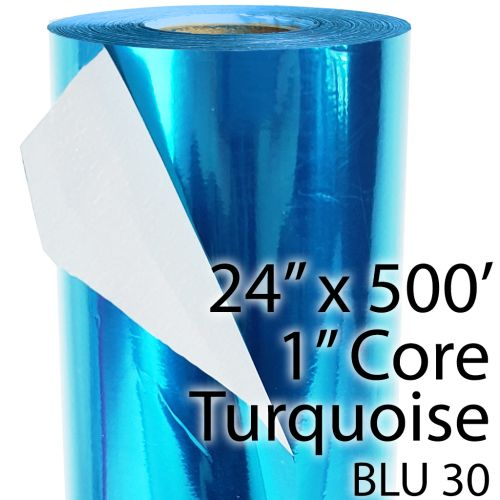 """24"""" x 500' Turquoise / Teal Colored Thermal Reactive Foil Roll"""