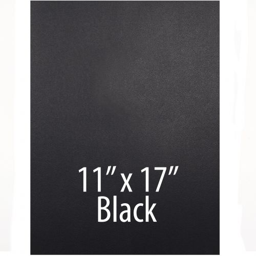 """Vinyl Report Covers [11"""" x 17"""", No Window, Square Corners, Unpunched, Black] (100 Covers / Box) Item#030206BKHH"""
