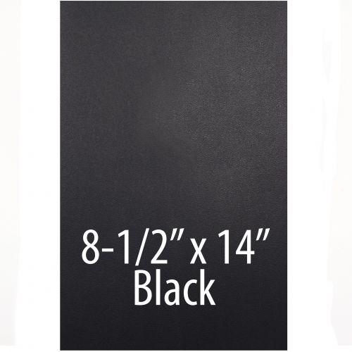 "Vinyl Report Covers [8 ½"" x 14"", No Window, Square Corners, Unpunched, Black] (100 Covers / Box) Item#030206BKLG"