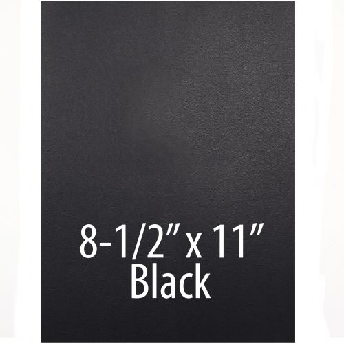 """Vinyl Report Covers [8 ½"""" x 11"""", No Window, Square Corners, Unpunched, Black] (100 Covers / Box) Item#030206BKAA"""
