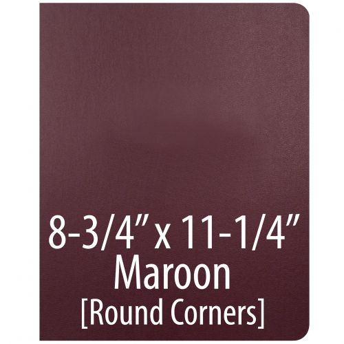 """Vinyl Report Covers [8 ¾"""" x 11 ¼"""", No Window, Round Corners, Unpunched, Maroon] (100 Covers / Box) Item#030206MADD"""