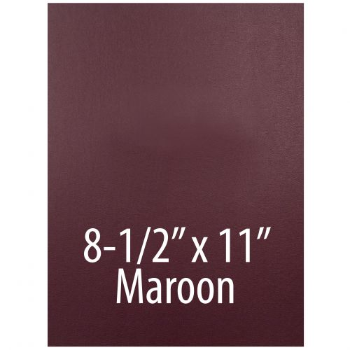 "Vinyl Report Covers [8 ½"" x 11"", No Window, Square Corners, Unpunched, Maroon] (100 Covers / Box) Item#030206MAAA"