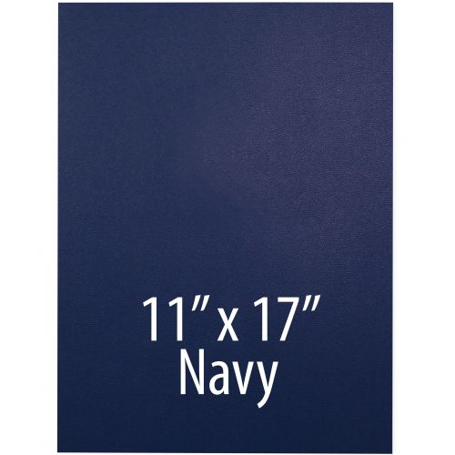 """Vinyl Report Covers [11"""" x 17"""", No Window, Square Corners, Unpunched, Navy] (100 Covers / Box) Item#030206RBHH"""