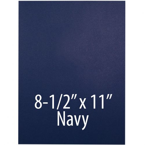 """Vinyl Report Covers [8 ½"""" x 11"""", No Window, Square Corners, Unpunched, Navy] (100 Covers / Box) Item#030206RBAA"""