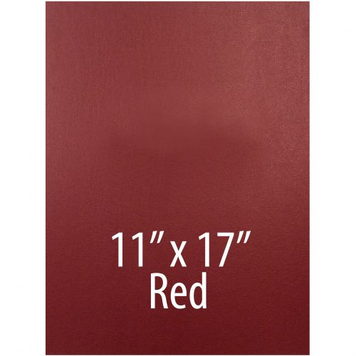 """Vinyl Report Covers [11"""" x 17"""", No Window, Square Corners, Unpunched, Red] (100 Covers / Box) Item#030206REHH"""