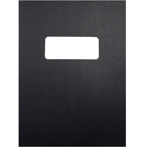8.5x11 Letter Size Black Vinyl Covers with Windows for Binding and Reports