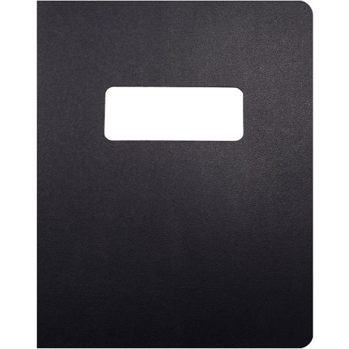 8.75x11.25 Oversize Black Vinyl Covers with Windows for Binding and Reports