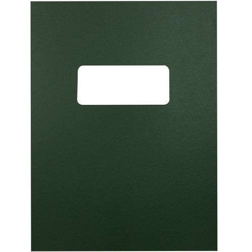 8.5x11 Letter Size Green Vinyl Covers with Windows for Binding and Reports