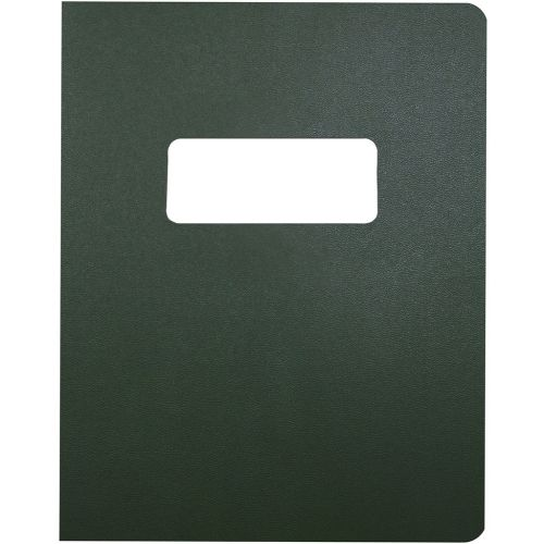 8.75x11.25 Oversize Dark Green Vinyl Covers with Windows for Binding and Reports