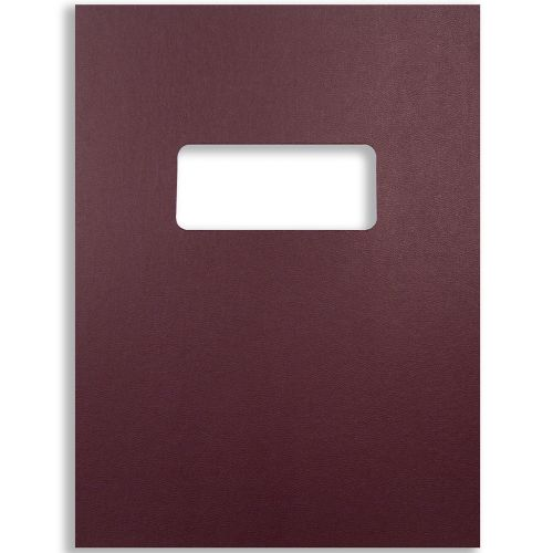 9x11 Letter Size Maroon Vinyl Covers with Windows for Binding and Reports