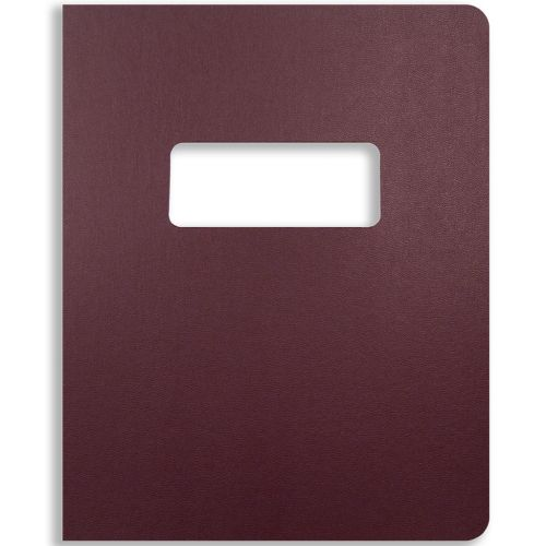 8.75x11.25 Oversize Maroon Vinyl Covers with Windows for Binding and Reports