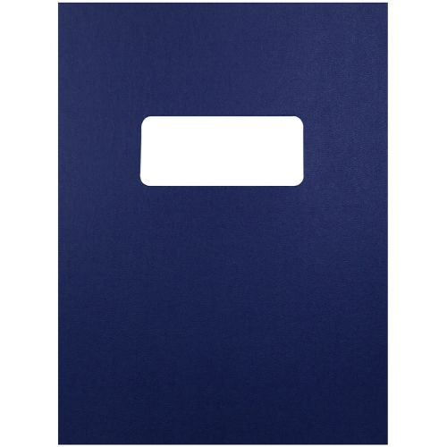 8.5x11 Letter Size Navy Blue Vinyl Covers with Windows for Binding and Reports