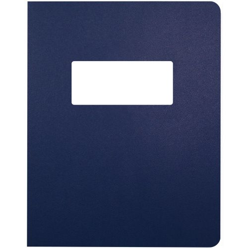8.75x11.25 Oversize Navy Blue Vinyl Covers with Windows for Binding and Reports