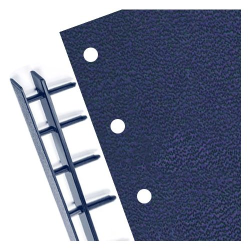 Navy Velo Punched Vinyl Covers