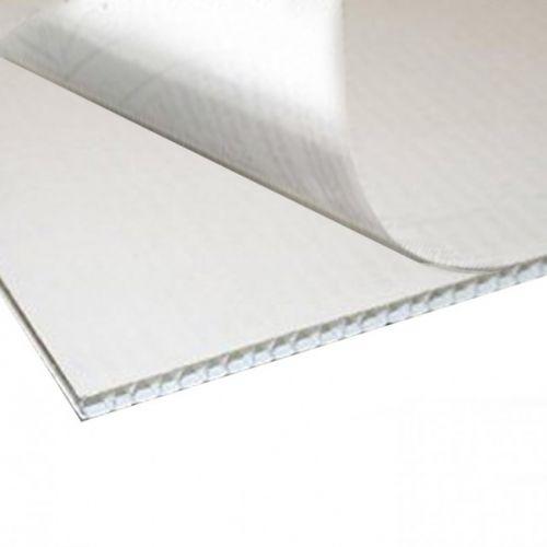 """18"""" W x 24"""" H White Self-Stick Corrugated Plastic Boards (10/Bx)"""