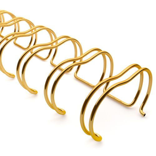2:1 Gold Wire Binding Spine | Twin Loop Metal Binder Supplies with 2:1 Pitch Spacing for Small Books