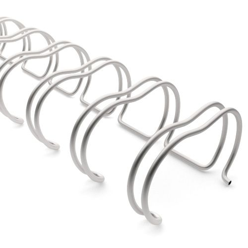 2:1 Pewter Wire Binding Spine | Twin Loop Metal Binder Supplies with 2:1 Pitch Spacing for Small Books