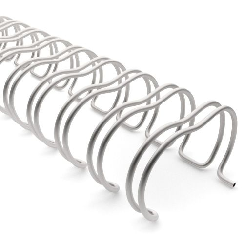 3:1 Pewter Wire Binding Spine | Twin Loop Metal Binder Supplies with 3:1 Pitch Spacing for Small Books