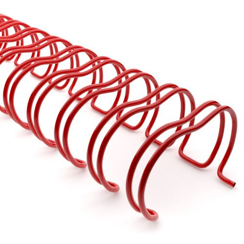 3:1 Red Wire Binding Spine | Twin Loop Metal Binder Supplies with 3:1 Pitch Spacing for Small Books