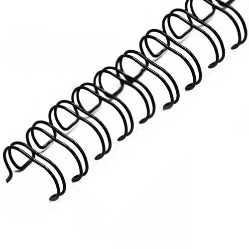 """1/2"""" Black Wire-O Binding Supplies [2:1 Pitch, 100 Sheet Capacity (approx)] (100/Bx)"""