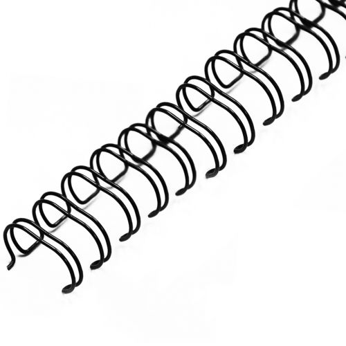 """3/8"""" Black Wire-O Binding Supplies [2:1 Pitch, 65 Sheet Capacity (approx)] (100/Bx)"""