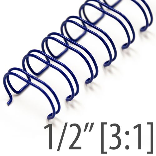 "1/2"" Blue Wire-O® Binding Supplies [3:1 Pitch] (100/Bx)"