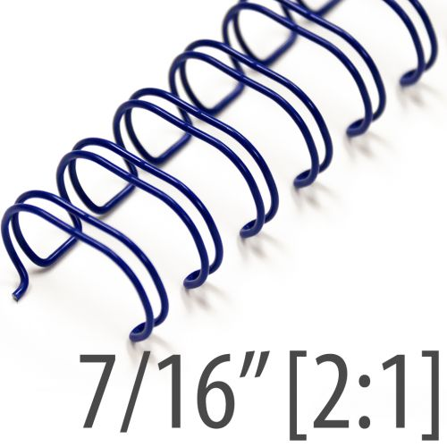 """7/16"""" Blue Wire-O® Binding Supplies [2:1 Pitch] (100/Bx)"""