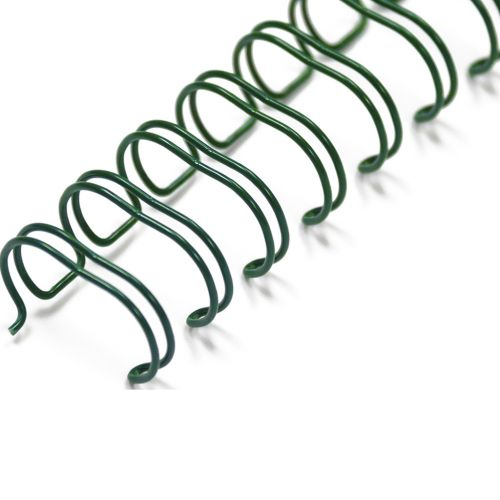 "3/8"" Green Wire-O® Binding Supplies [3:1 Pitch] (100/Bx)"