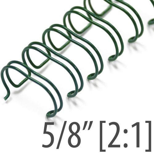"5/8"" Green Wire-O® Binding Supplies [2:1 Pitch] (100/Bx)"
