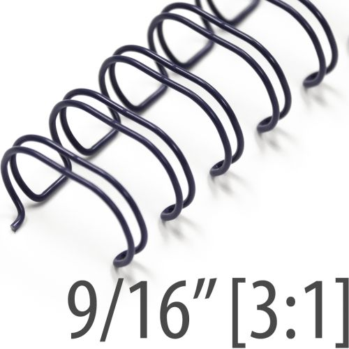 """9/16"""" Navy Wire-O® Binding Supplies [3:1 Pitch] (100/Bx)"""