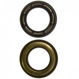 READY TO SHIP! 500 PER BAG #2 BRASS NICKEL PLATED SELF PIERCING GROMMETS